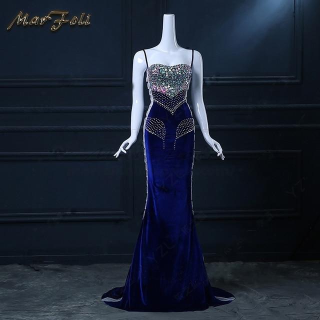 3d4477a053b Floor-Length Full manual Gauzy Sexy Star full Prom Evening dresses 2018  Cocktail dress Night entertainment venue dress LF0092