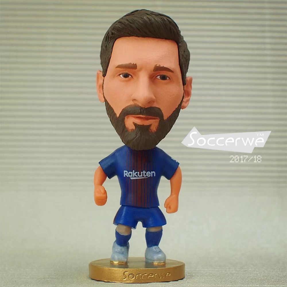 Soccerwe 2018 Европа Испания клуб супер горячий футболист звезда прекрасная фигурка игрушки футбольная кукла Месси Роналдо коутинью тюл