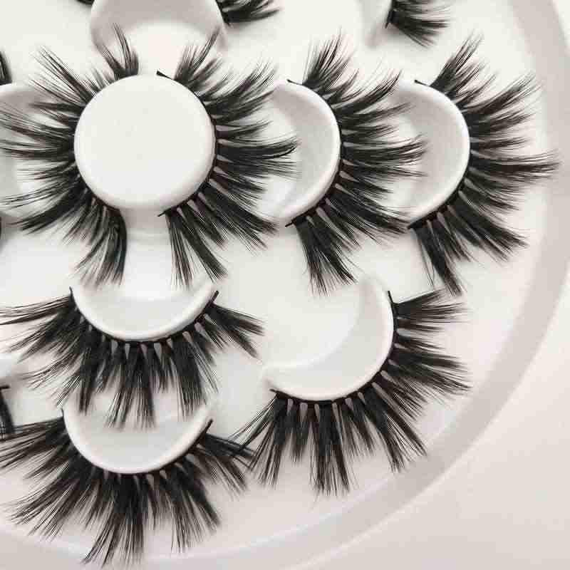 Buzzme H15 с фокусным расстоянием 25 мм ресницы 3D синтетические ресницы 7 набор ресниц Популярные реснички макияжа