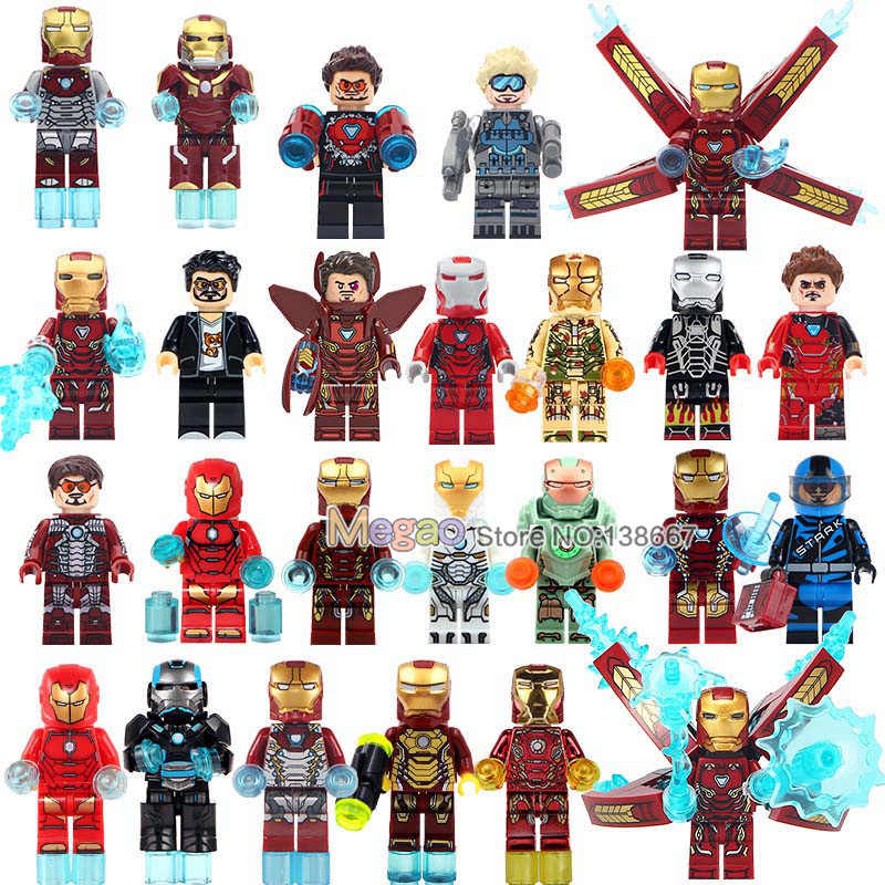 Single Sale Iron Man Mark Super Hero Ironman Dance Girl mark MK Tony Model Collection Building Blocks Children Gift Toys