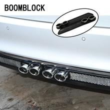 BOOMBLOCK Car 3D Cool Automobiles carbon Exhaust pipe Sticker For Skoda Octavia A7 A5 Audi a4 b6 a3 a6 c5 b8 b7 c6 q5 Lada BMW цена и фото