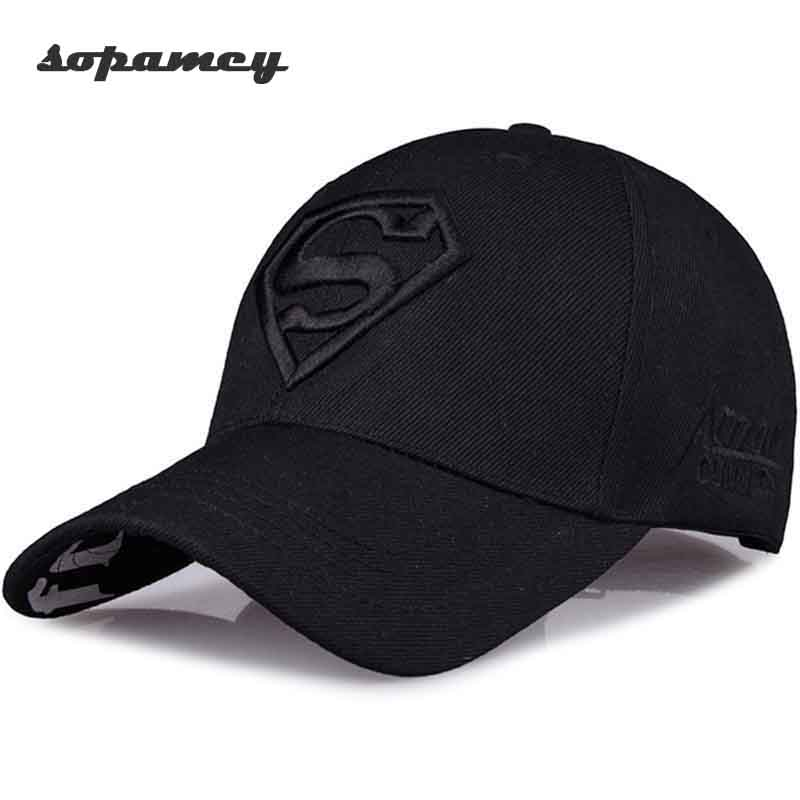 2017 New Letter Superman Cap Casual Outdoor Baseball Caps For Men Hats Women Snapback Caps For Adult Sun Hat Gorras wholesale wareball new hot fashion brand cotton mens hat letter bat unisex women men hats baseball cap snapback casual caps