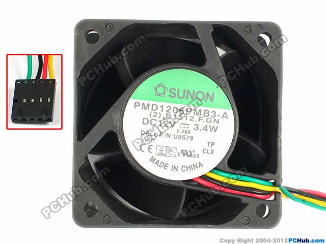SUNON PMD1206PMB3-A (2).B1812.F.GN Server Square Cooling Fan DC 12V 3.4W 60x60x38mm 4-wire free shipping for sunon sf11025at ac 220v 0 10a 2 wire 110x110x25mm server square cooling fan