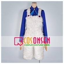 COSPLAYONSEN Karneval tırnak Cosplay kostüm mavi gömlek beyaz pantolon herhangi bir boyut özel el yapımı