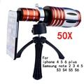 50x zoom telescópio do telefone móvel lente lentes de telefoto para iphone 4 5 se 5S 6 6 s plus samsung galaxy s3 s4 s5 s6 note 2 3 4 5