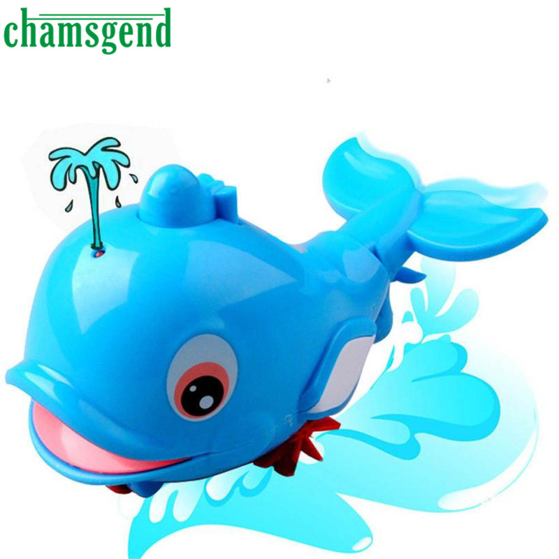 New Born Babies Swim Bule Dolphin Wound-Up Chain Small Animal Bath Toy Classic Toys Gift For Baby kids Levert Dropship Oct 21