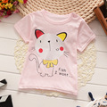 Cartoon Hellokitty 100% Cotton Short Sleeve Kids Girls T-shirts 2016 Fashion Children 1-5 Years Girls Tshirts Baby Girls Clothes