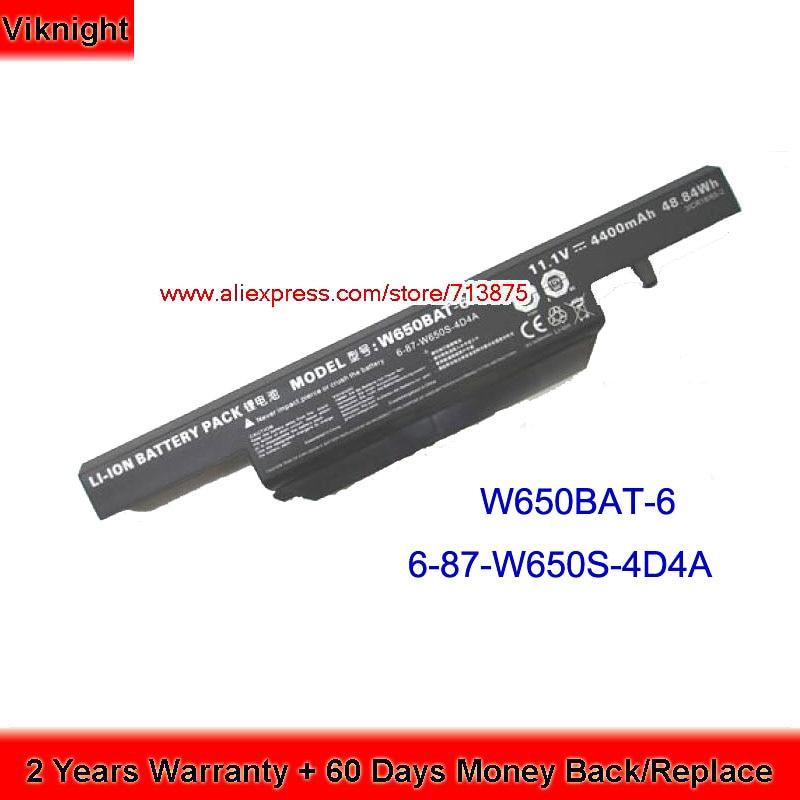 W650BAT-6 Laptop Battery for Clevo W650SJ PC-Specialist K650D K610C K570N K590C W650BAT-6 origianl clevo 6 87 n350s 4d7 6 87 n350s 4d8 n350bat 6 n350bat 9 laptop battery