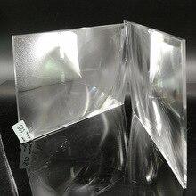 Прямая фокусное расстояние 220 мм пластиковые PMMA прямоугольные линзы Френеля