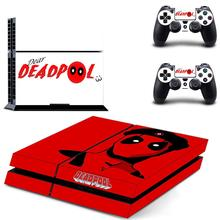 Deadpool Anime COOL Decal PS4 Skin Sticker for Sony Playstation 4 Console & 2 Controller Protective Sticker