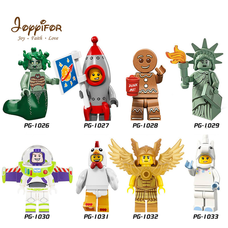 Joyyifor 2018 New Lot Compatible Toy Story LegoINGlys Woody Buzz Lightyear Statue Of Liberty Rex Andy Chen Best Gift To Children toy story juniors costume tunic tank dress buzz lightyear costume fancy dress toy story jessie costume buzz lightyear costume