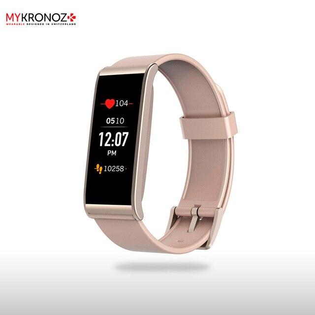 Фитнес-трекер MyKronoz ZeFit4HR цвет матовый розовый/золото