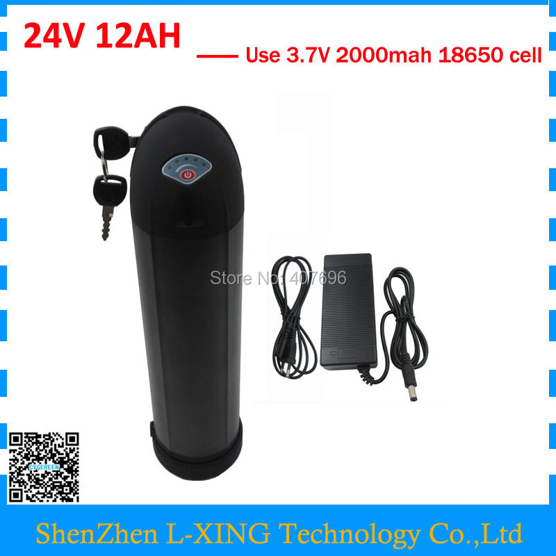 24V electric bike battery 24v 12ah 350W 24 V 12AH water bottle Lithium ion battery 15A BMS with 2A Charger Free customs fee free customs taxes rechargeable lithium battery 48v 12ah lithium ion battery 48v 12ah li ion battery pack 2a charger 20a bms