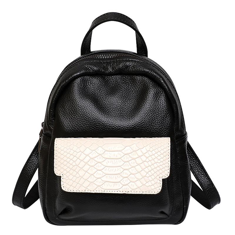 2019 Korean Fashion Small Women Backpack 100 Genuine Leather Crocodile Pattern Bagpack High Quality Natural Leather