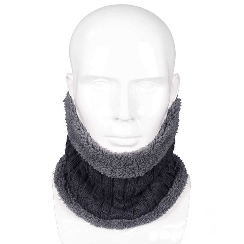 4cc935c4631 5 Colors New Fashion Design Winter Knitted Scarves Men Women Plus Cotton  Wool Collar Scarf Warmer