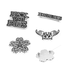 Music Band Black Veil Brides Brooch Men Women Jewelry Enamel Pin Brooches Backpack Hat Cloth Badge Collar Lapel pins black veil brides black veil brides black veil brides