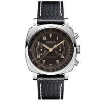 Parnis Pilot Seriers Световой мужские кожаный ремешок Военная Униформа спортивный хронограф кварцевые часы наручные