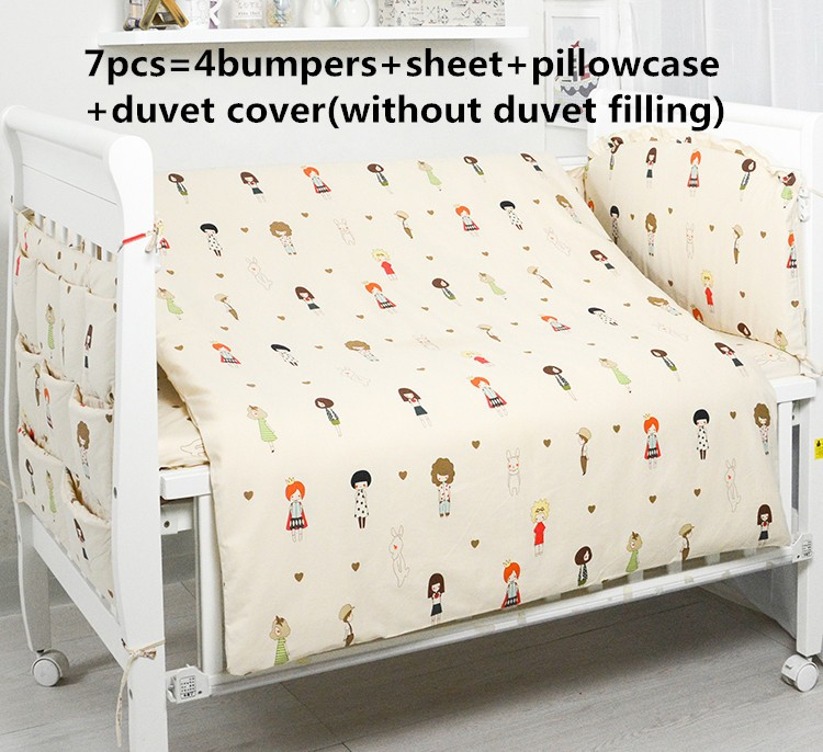 Promotion! 6/7PCS Baby cot bedding set whale Baby crib bedding set cotton quilt cover bumper , 120*60/120*70cm promotion 6 7pcs cotton baby bedding set cot crib bedding set baby sheets wholesale 120 60 120 70cm