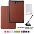 "case for samsung Tab AS A8 leather protective cover case funda for samsung GALAXY Tab A 8.0 T350 T351 8"" tablet+stylus pen+film"