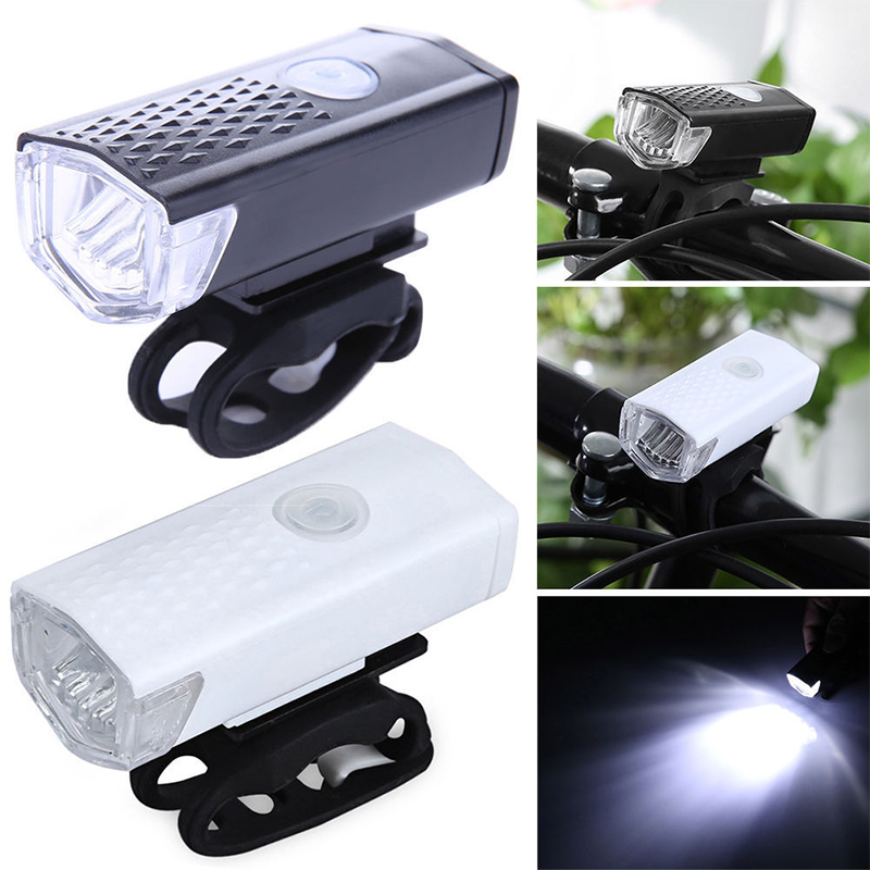 Rechargeable Bike Headlight Front Light 300 Lumen Bike Waterproof 6000K Bicycle Flashlight Dynamo Light Front Lights(China)