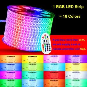 Image 3 - 110V LED Strip SMD5050 60led/m Color Changing Remote Control Type RGB Neon Light Belt AC110V Lighting Line Home Decor Waterproof