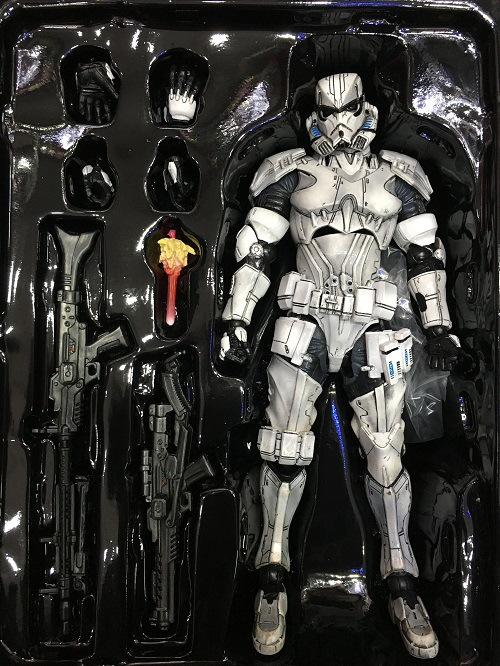 купить Genuine Star War PLAY ARTS white soldiers / stormtrooper movable Jedi Darth Vader Darth Vader 26cm Movie Model Action Figure Toy онлайн