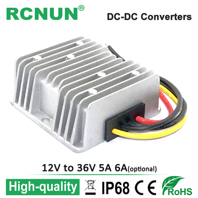 36 volt seven pin trailer plug wiring diagram high qualigy 12 to 6a dc converter 12v step up 36v 5a 180w power supply boost module