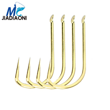JIADIAONI 10pieces/Lot Non-barb Fishing Hook High Carbon Hook Fishhooks Lure Fishing Tackle