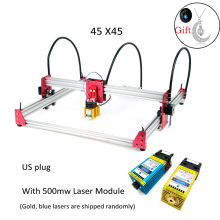 Metal 45*45cm 5500wm/3500wm/5500mw/7w/15w Wood Mini CNC Laser Engraver Cutter Engraving Printer DIY Machine PWM US Plug