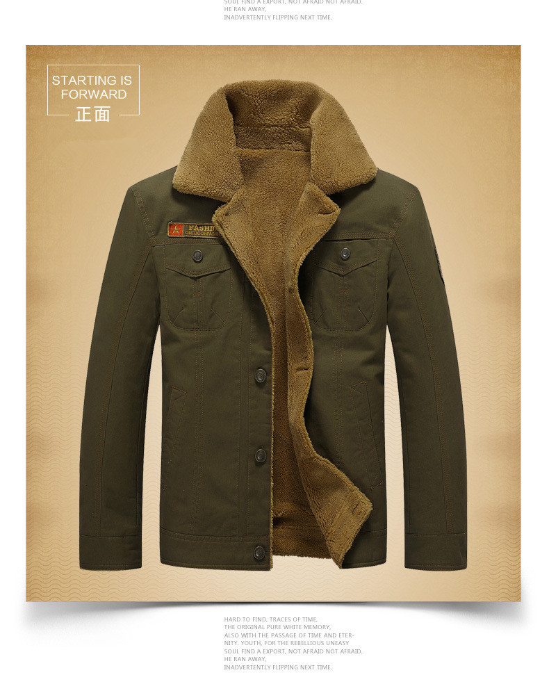 FGKKS 2018 Men Jacket Coats Winter Military Bomber Jackets Male Jaqueta Masculina Fashion Denim Jacket Mens Coat