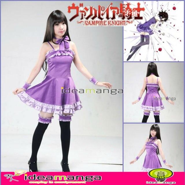 cosplay amime vampire knight girl kuran yuki princess evening dress