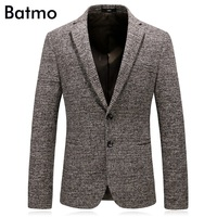 Batmo 2018 new arrival autumn high quality casual khaki suits men,men's casual blazers,men's jackets plus size M 4XL 8129