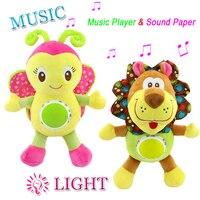 נייד צעצועי תינוק ממולא בעלי החיים Kawaii רך peek Boo צעצועי קטיפה מוזיקליים ילודים עגלת רכב צעצועי רעשן חינוכי D063