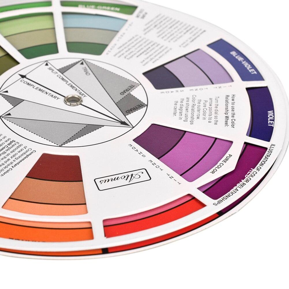 ATOMUS Professionelle Tattoo Nagel Pigment Farbe Rad Papier Karte Mix Runde Guide Neue