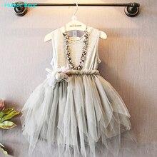 Humor Bear Summer Baby Girl Toddler Lace Clothing Dress For Infant Floral Princess Dress Children s