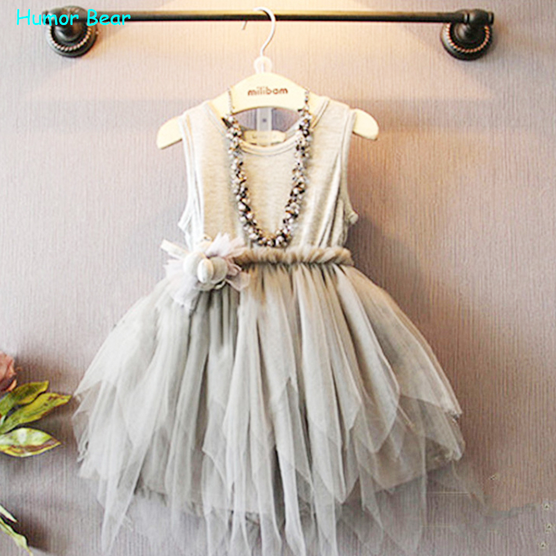 Humor Bear Summer Baby Girl Toddler Lace font b Clothing b font Dress For Infant Floral