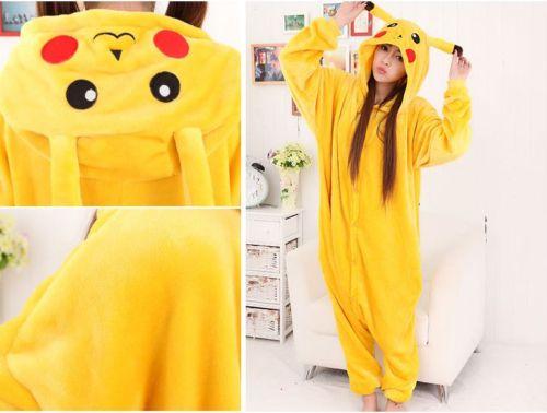 fde975d05747 Super Natural Christmas Japan Adult Pokemon Pikachu Kigurum Cosplay Footed  One Piece Pajamas Onesie Costume Fleece Clothing