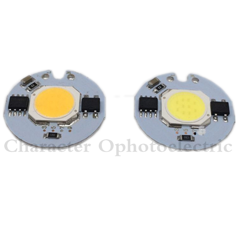 1 PCS COB LED Chip De Lâmpada 3 W 5 W 7 W 9 W COB Lâmpada LED lâmpada 220 V IP65 IC Inteligente Motorista Frio/Warm White LED Spotlight Focos