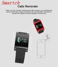 Smartch DM68 смарт-браслет Band Android IOS крови Давление монитор сердечного ритма браслет удаленного Камера калорий смарт-Группа фитнес