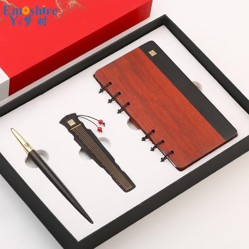 Бизнес подарки шариковая ручка блокнот Шариковая Ручка закладка для письма принадлежности Индивидуальные Шариковые ручки с пеналом P686