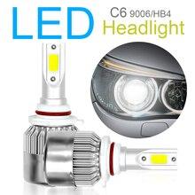 2pcs Car Headlight Kit 9006 HB4 C6 10800LM  6000K 120W COB LED Hi or Lo Light Bulbs accessories for Cars Auto Vehicle
