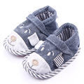 Newborn baby shoes denim cute bear baby boys girls shoes 0-1Y first walkers infant soft sole canvas sneaker toddler shoes