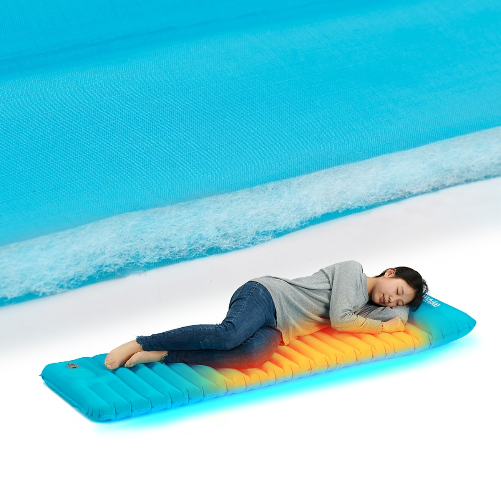 Naturehike New Ultralight Outdoor Air Mattress Inflatable Camp Bed Tent Camping Mat Manually Sleeping Pad