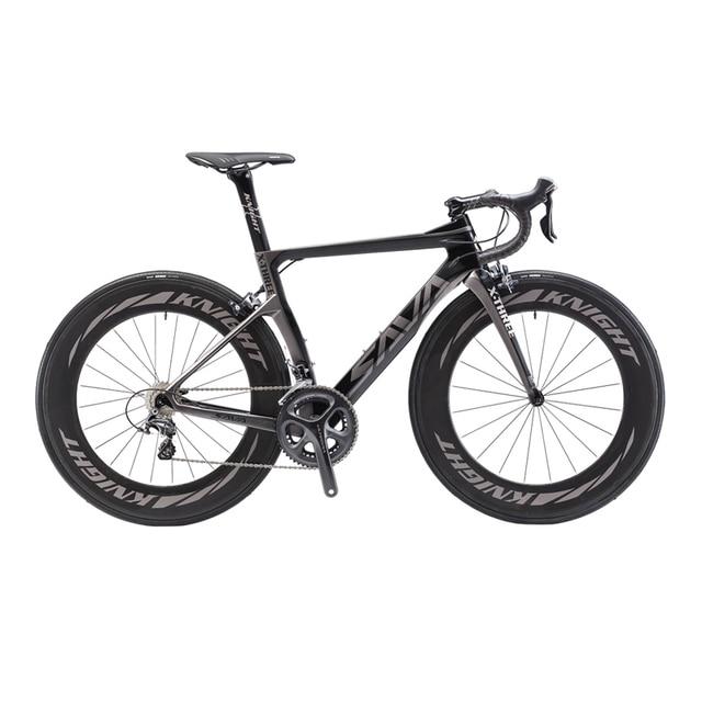 Сава 700C шоссейные велосипеды T800 углерода Волокно Рамки Велоспорт Велосипедный Спорт Shimano ultegra 8000 22 Скорость Bicicleta 88 мм колесной и 25C шин