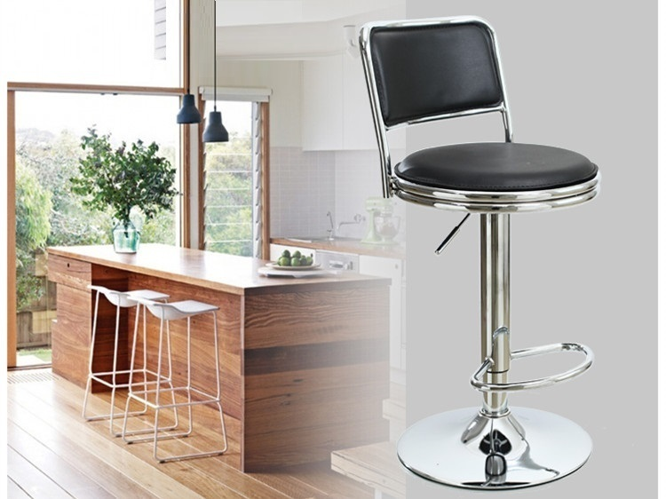 Hotel dining coffee chair North American fashion bar black stool retail wholesale free shipping 3386519 3