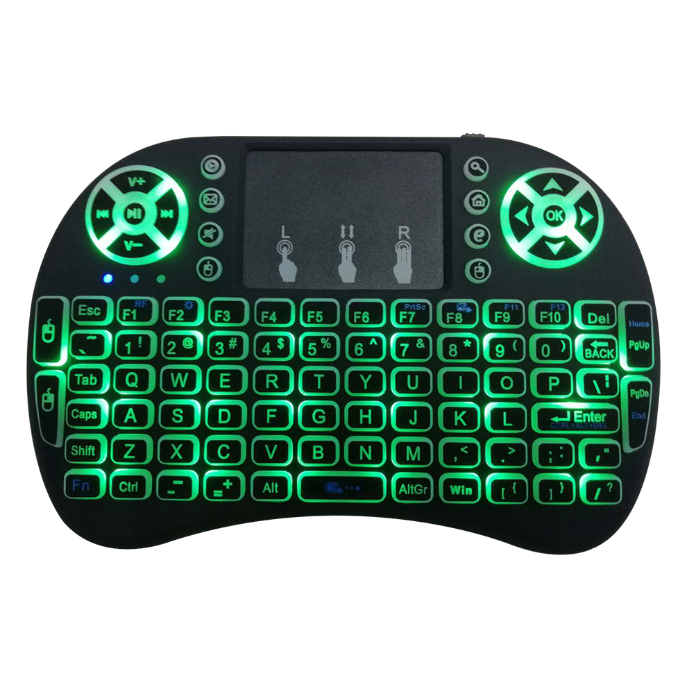 Original i8 Mini Wireless Backlit Keyboard English Letter Air Mouse Remote Control Touchpad For Android TV Box Notebook Tablet
