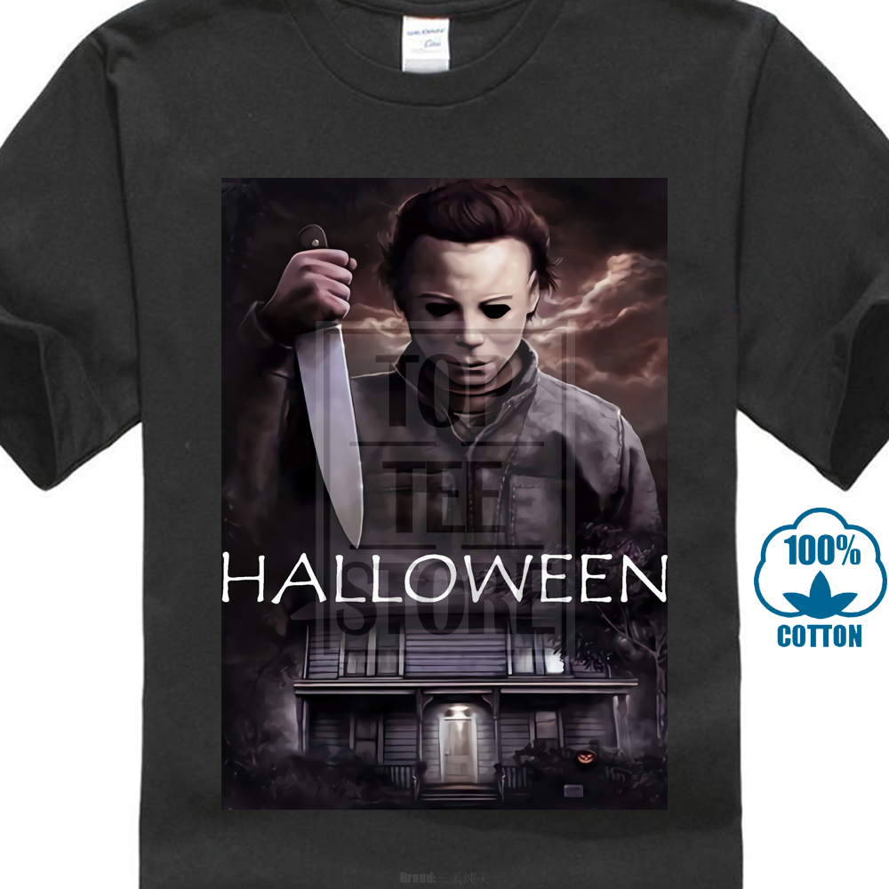 New Michael Myers Halloween Horror Thriller Movie Men'S Black T Shirt S 3Xl image