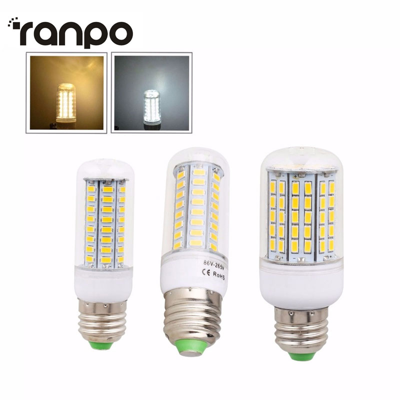 Dimmable LED Corn Bulb 5730 SMD E27 9W 14W 20W 48/64/90 SMD Lamp Light Chandelier Warm Cool White For Indoor Lighting Spot Light led light bulb e27 36w dimmable globe bulb cool energy saving lamp warm white spot light chandelier candle lighting ac110 240v