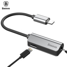 Baseus L32 Aux Audio Cable Adapter For iPhone 7 Earphone 2 in 1 For Lightning to 3.5mm Jack Headphone Adapter For iPhone 7 Plus