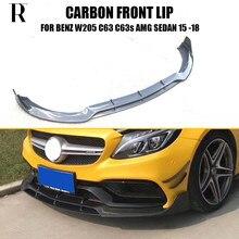 Lame de pare-choc avant en Fiber de carbone C63, pour Benz S205 Wagon 5 portes C63 & C63s Amg 2015 – 2022